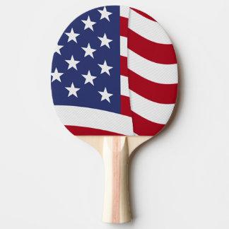 Raquette De Ping Pong Ondulation de drapeau américain