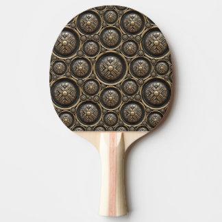 Raquette De Ping Pong Palette antique de ping-pong de motif d'armure