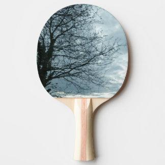 Raquette De Ping Pong Palette de ping-pong de nature, dos rouge en