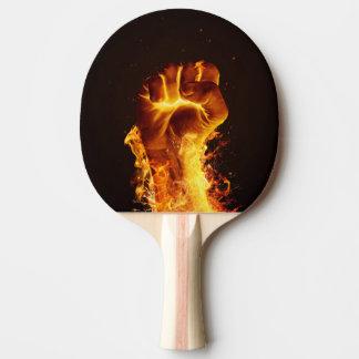 Raquette De Ping Pong Palette de ping-pong de poing du feu