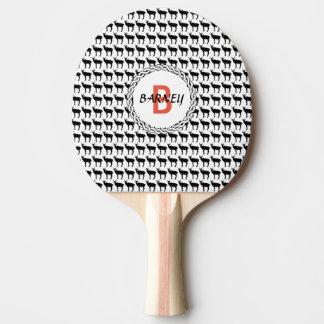 Raquette De Ping Pong Palette de ping-pong, dos rouge en caoutchouc