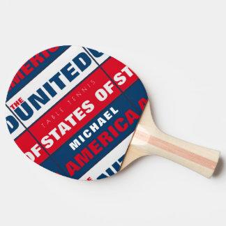 Raquette De Ping Pong palette patriotique fraîche de table_tennis avec