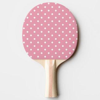 Raquette De Ping Pong Palette rose de ping-pong de point de polka