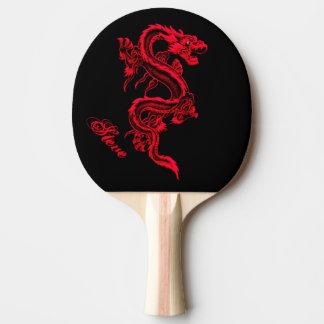 Raquette De Ping Pong Palette rouge de ping-pong de dragon