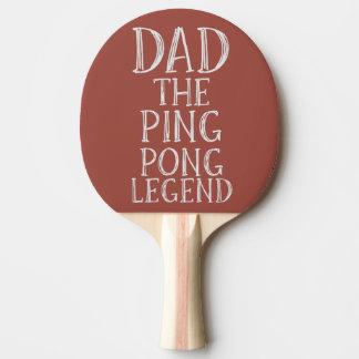 Raquette De Ping Pong Papa la palette de rouge de légende de ping-pong