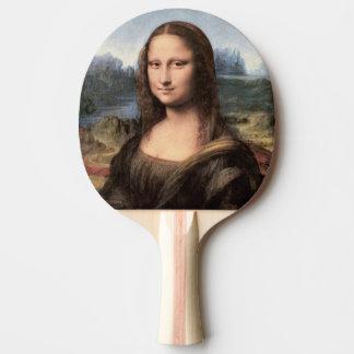 Raquette De Ping Pong Portrait/peinture de Mona Lisa