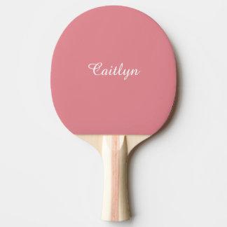 Raquette De Ping Pong Rose léger de fraise personnalisable