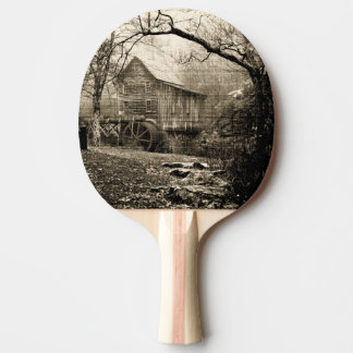 Raquette De Ping Pong Roue hydraulique vintage