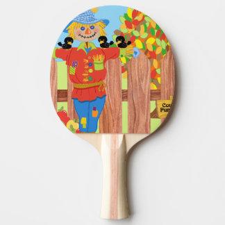 Raquette De Ping Pong scène i de barrière d'épouvantail