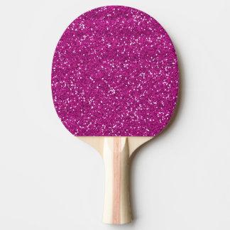 Raquette De Ping Pong Scintillement élégant de roses indien
