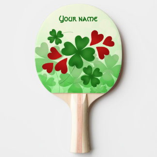 Raquette De Ping Pong Shamrock mignon de Jour de la Saint Patrick et
