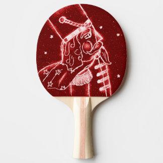 Raquette De Ping Pong Soldat de jouet de casse-noix en rouge lumineux