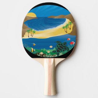 Raquette De Ping Pong Tortue d'îles d'Hawaï