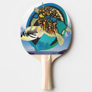 Raquette De Ping Pong Tortue d'îles d'Hawaï de baie de Hanauma