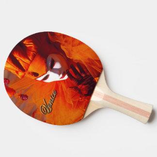 Raquette De Ping Pong Venise, Italie (IT) - costume orange de carnaval