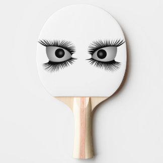 Raquette De Ping Pong Yeux regardant fixement vous palette de ping-pong