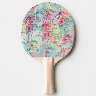 Raquette Tennis De Table Aquarelles florales de peinture de roses