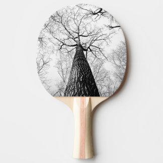 Raquette Tennis De Table Arbre en noir et blanc