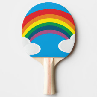 Raquette Tennis De Table arc-en-ciel