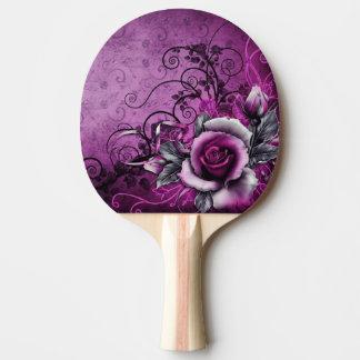 Raquette Tennis De Table art grunge vintage de remous de vecteur de rose de