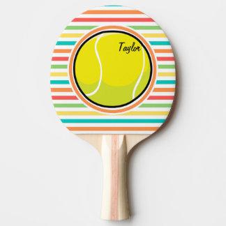 Raquette Tennis De Table Balle de tennis ; Rayures lumineuses d'arc-en-ciel