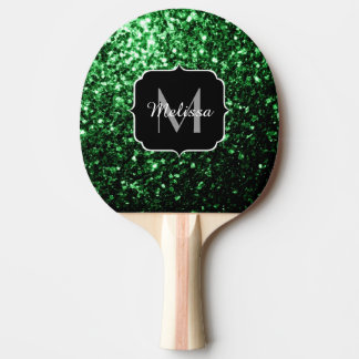 Raquette Tennis De Table Beau monogramme d'étincelles de scintillement de