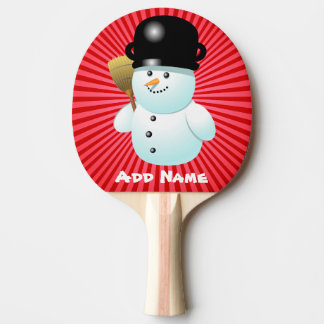 Raquette Tennis De Table Bonhomme de neige de Noël