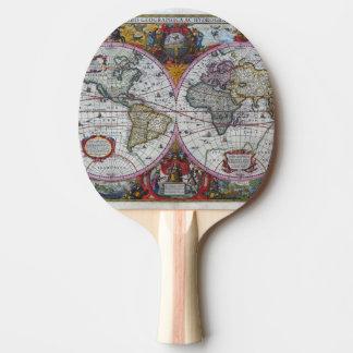 Raquette Tennis De Table Carte antique du monde