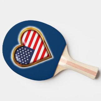 Raquette Tennis De Table Coeur américain