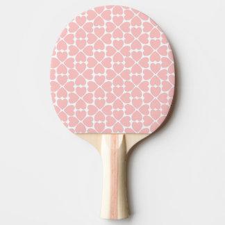 Raquette Tennis De Table Coeurs de trèfle de feuille du rose quatre