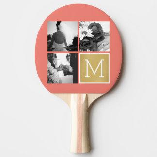 Raquette Tennis De Table Créez votre propre monogramme de collage de photo