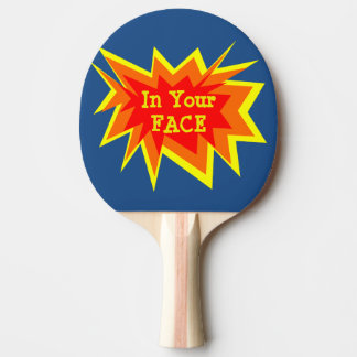 Raquette Tennis De Table Dans votre palette de ping-pong de visage