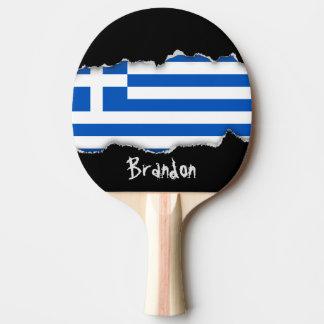 Raquette Tennis De Table Drapeau de la Grèce