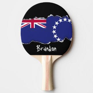 Raquette Tennis De Table Drapeau d'îles Cook