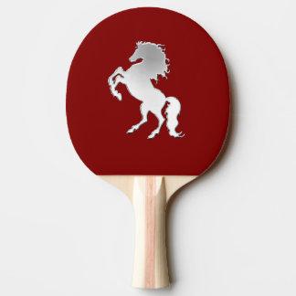 Raquette Tennis De Table Étalon argenté sur le rouge
