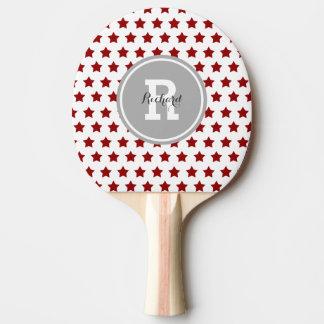 Raquette Tennis De Table Étoiles personnalisées de rouge