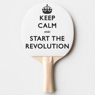 Raquette Tennis De Table Gardez le calme et commencez la révolution