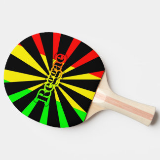 Raquette Tennis De Table Graffiti de drapeau de rasta de reggae de Cori