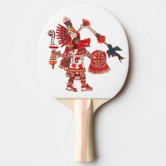 Raquette Tennis De Table Guerrier aztèque de chaman de danse