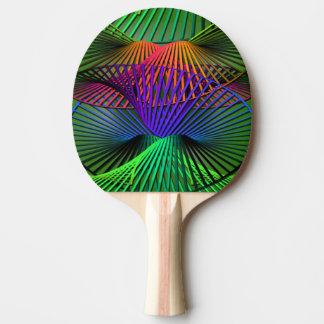 Raquette Tennis De Table Hélice multicolore abstraite