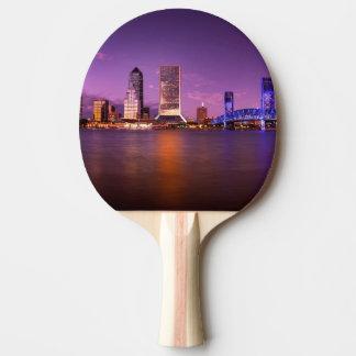 Raquette Tennis De Table Horizon de Jacksonville la Floride la nuit