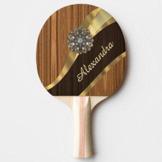 Raquette Tennis De Table Joli grain personnalisé en bois de pin de faux