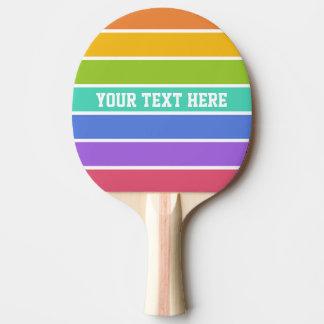 Raquette Tennis De Table L'arc-en-ciel colore la palette faite sur commande
