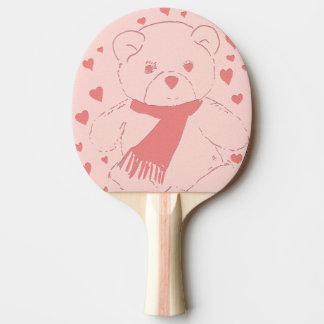 Raquette Tennis De Table Le rose a modifié la tonalité l'ours de nounours