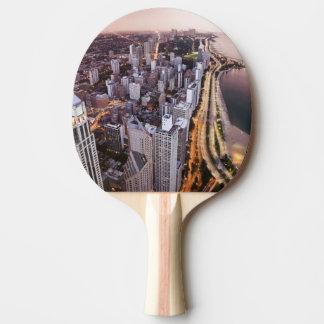 Raquette Tennis De Table Les Etats-Unis, l'Illinois, Chicago, vue aérienne