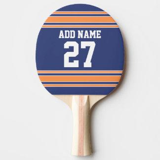 Raquette Tennis De Table L'orange bleue folâtre le Jersey avec votre nom et