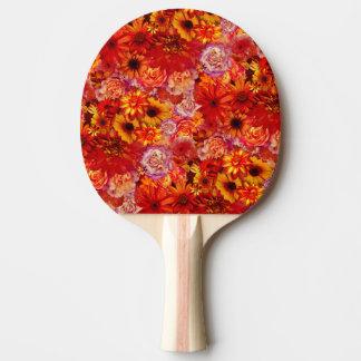 Raquette Tennis De Table Marguerites d'un rouge ardent riches de bouquet