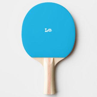 Raquette Tennis De Table Monogramme de bleu de réception au bord de la