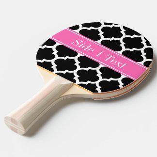Raquette Tennis De Table Monogramme nommé blanc noir des roses indien #2 du