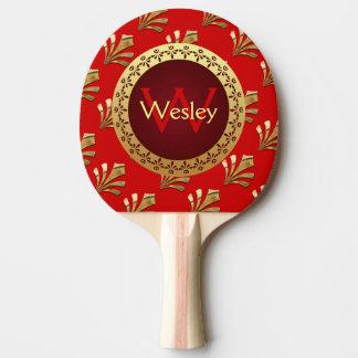 Raquette Tennis De Table Monogramme romain rouge